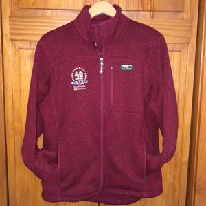 Cranberry Colored LL Bean Full Zip Jacket